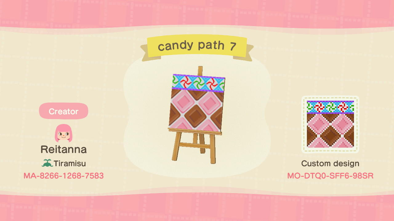 candy path 7 - Animal Crossing: New Horizons Custom Design