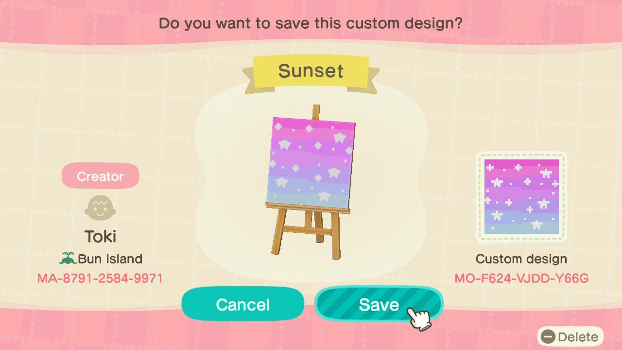 Sunset - Animal Crossing: New Horizons Custom Design