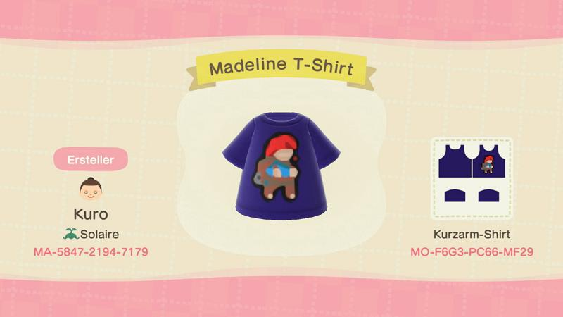 Madeline T-Shirt - Animal Crossing: New Horizons Custom Design