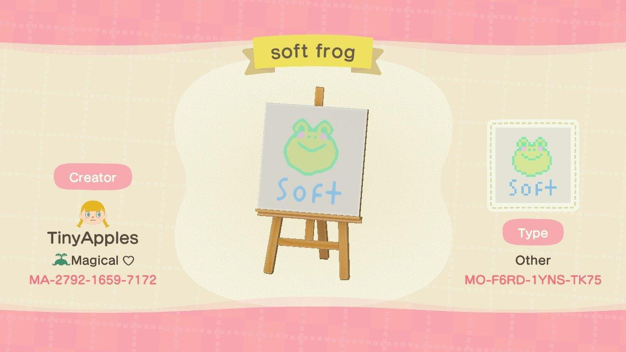 soft frog - Animal Crossing: New Horizons Custom Design