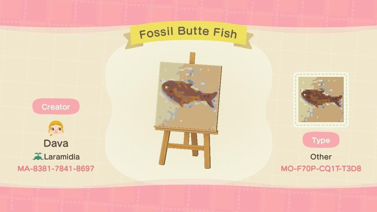 Fossil Butte Fish - Animal Crossing: New Horizons Custom Design