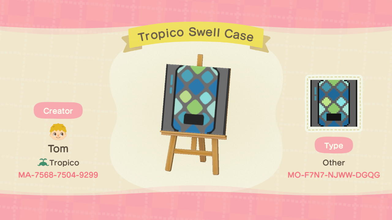 Tropico Swell Case - Animal Crossing: New Horizons Custom Design