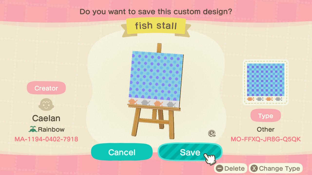 Fish stall - Animal Crossing: New Horizons Custom Design