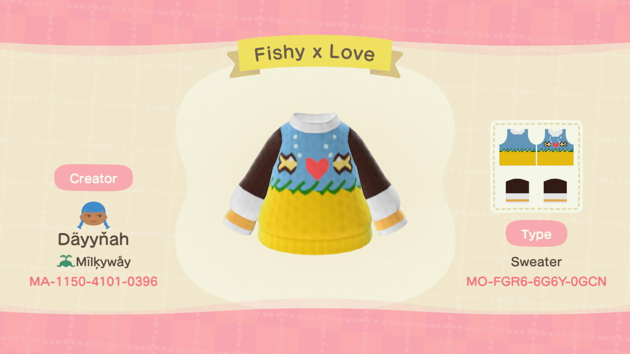 Fishy x Love - Animal Crossing: New Horizons Custom Design