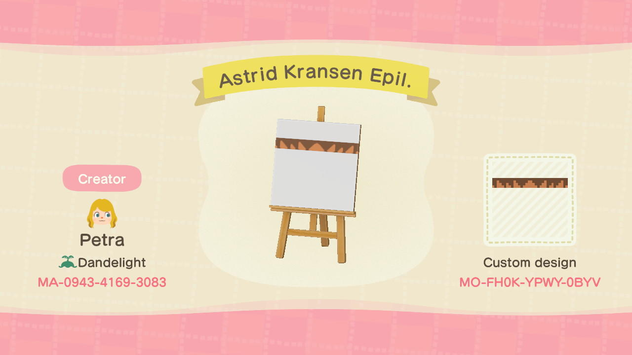 Astrid Kransen Epil. - Animal Crossing: New Horizons Custom Design