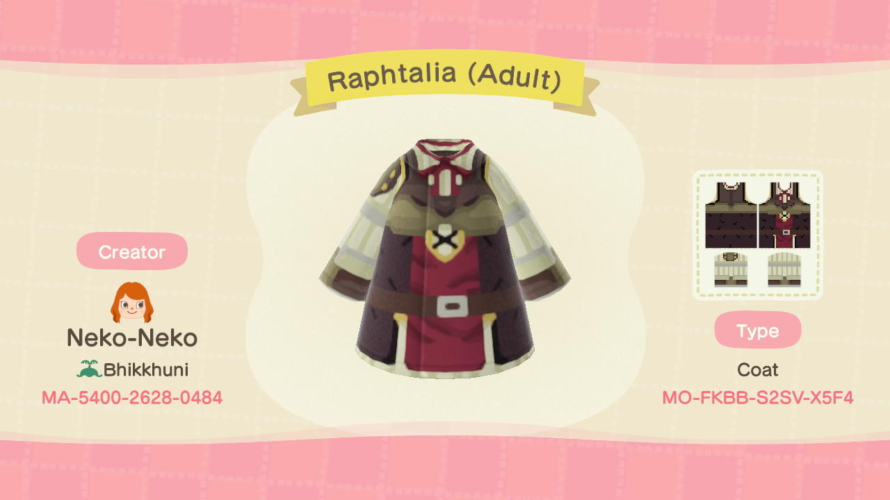 Raphtalia (Adult) - Animal Crossing: New Horizons Custom Design