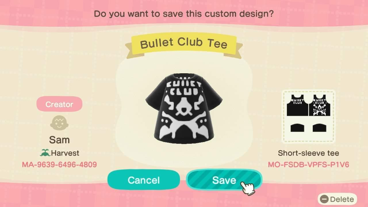 Bullet Club Tee - Animal Crossing: New Horizons Custom Design