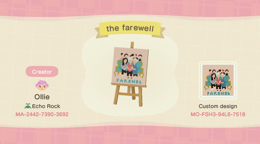 The Farewell Poster - Animal Crossing: New Horizons Custom Design