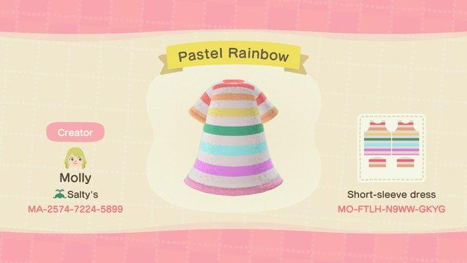 Pastel Rainbow - Animal Crossing: New Horizons Custom Design