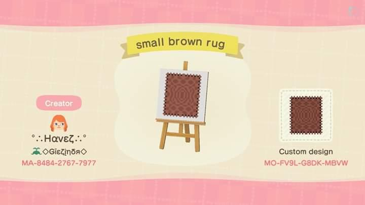 small brown rug - Animal Crossing: New Horizons Custom Design