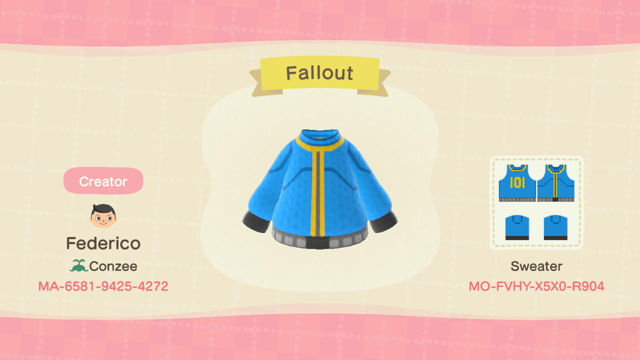 Vault 101 (Fallout) - Animal Crossing: New Horizons Custom Design