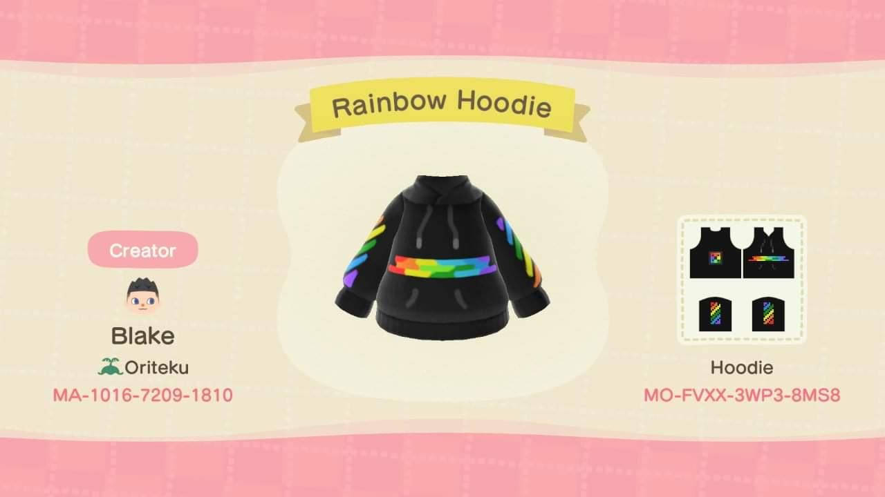 Rainbow Hoodie - Animal Crossing: New Horizons Custom Design