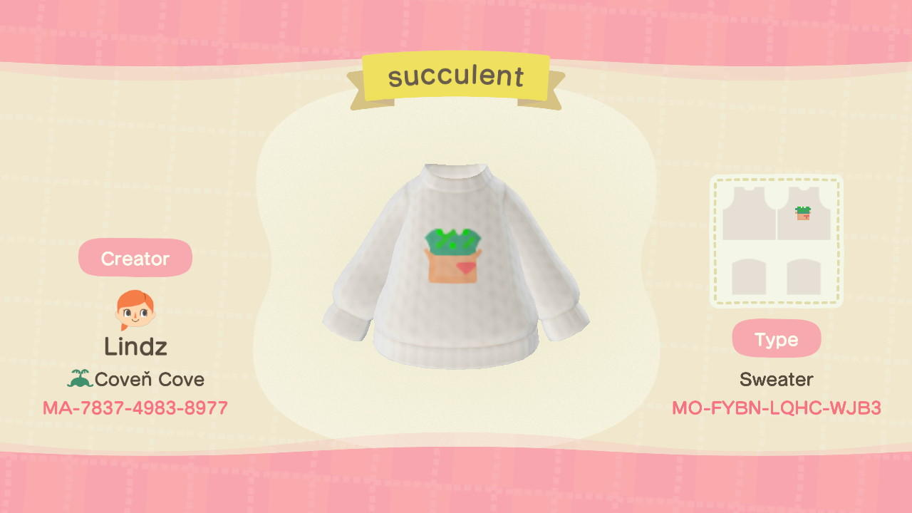 Succulent - Animal Crossing: New Horizons Custom Design