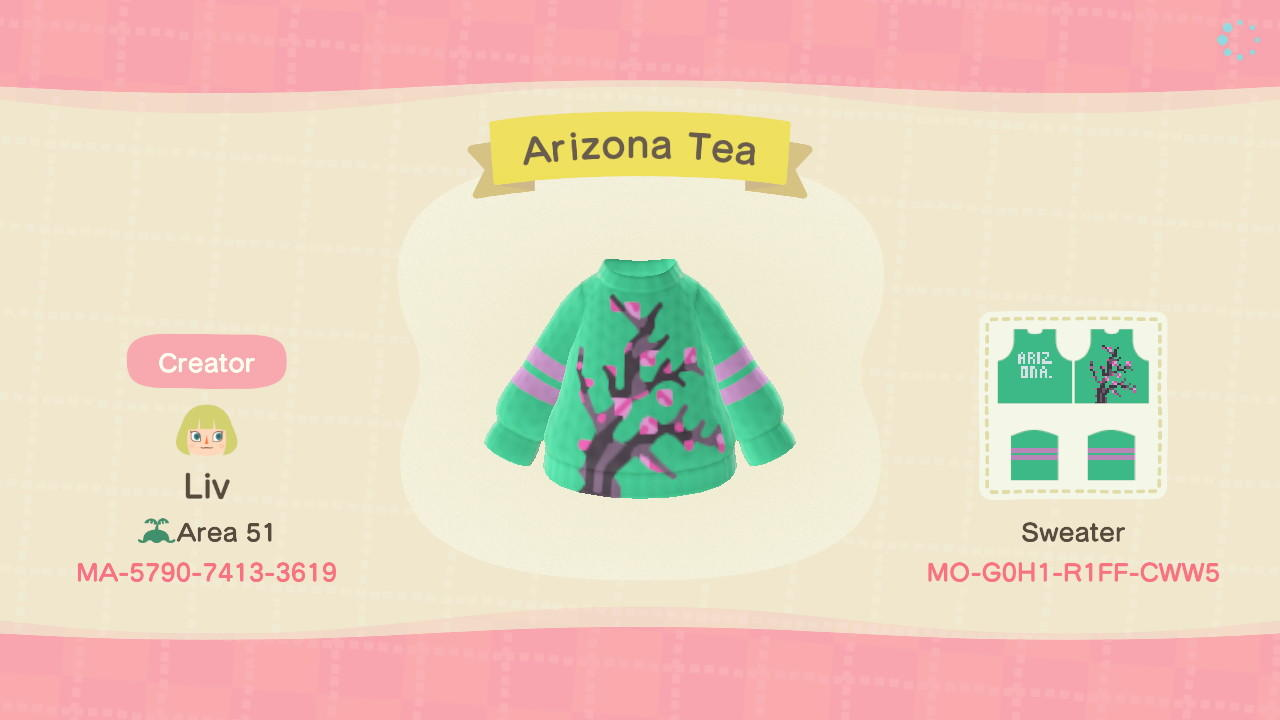 Arizona Tea - Animal Crossing: New Horizons Custom Design