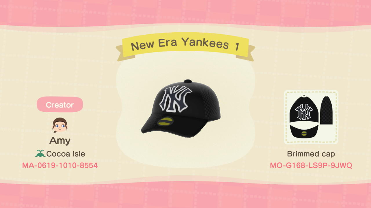 New Era Yankees 1 - Animal Crossing: New Horizons Custom Design