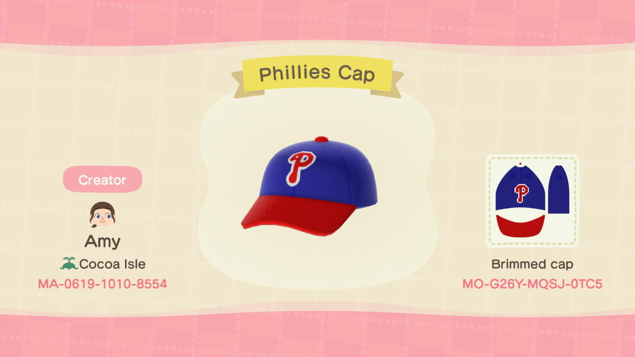 Phillies Cap - Animal Crossing: New Horizons Custom Design