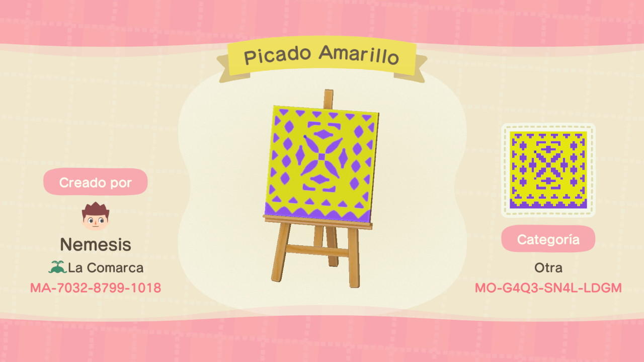 Picado Amarillo - Animal Crossing: New Horizons Custom Design