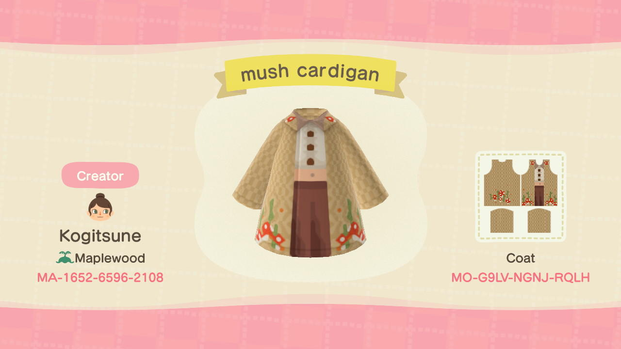 mush cardigan  - Animal Crossing: New Horizons Custom Design