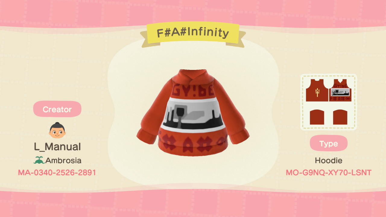 F# A# Infinity  - Animal Crossing: New Horizons Custom Design