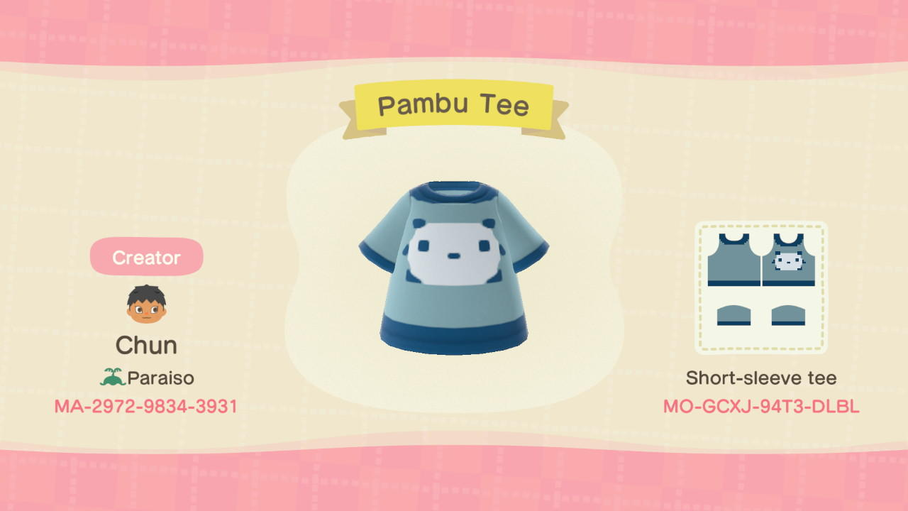 Pambu Tee - Animal Crossing: New Horizons Custom Design