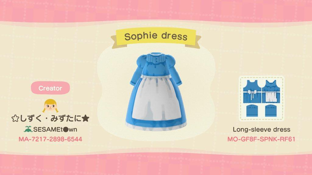 Sophie Dress - Animal Crossing: New Horizons Custom Design