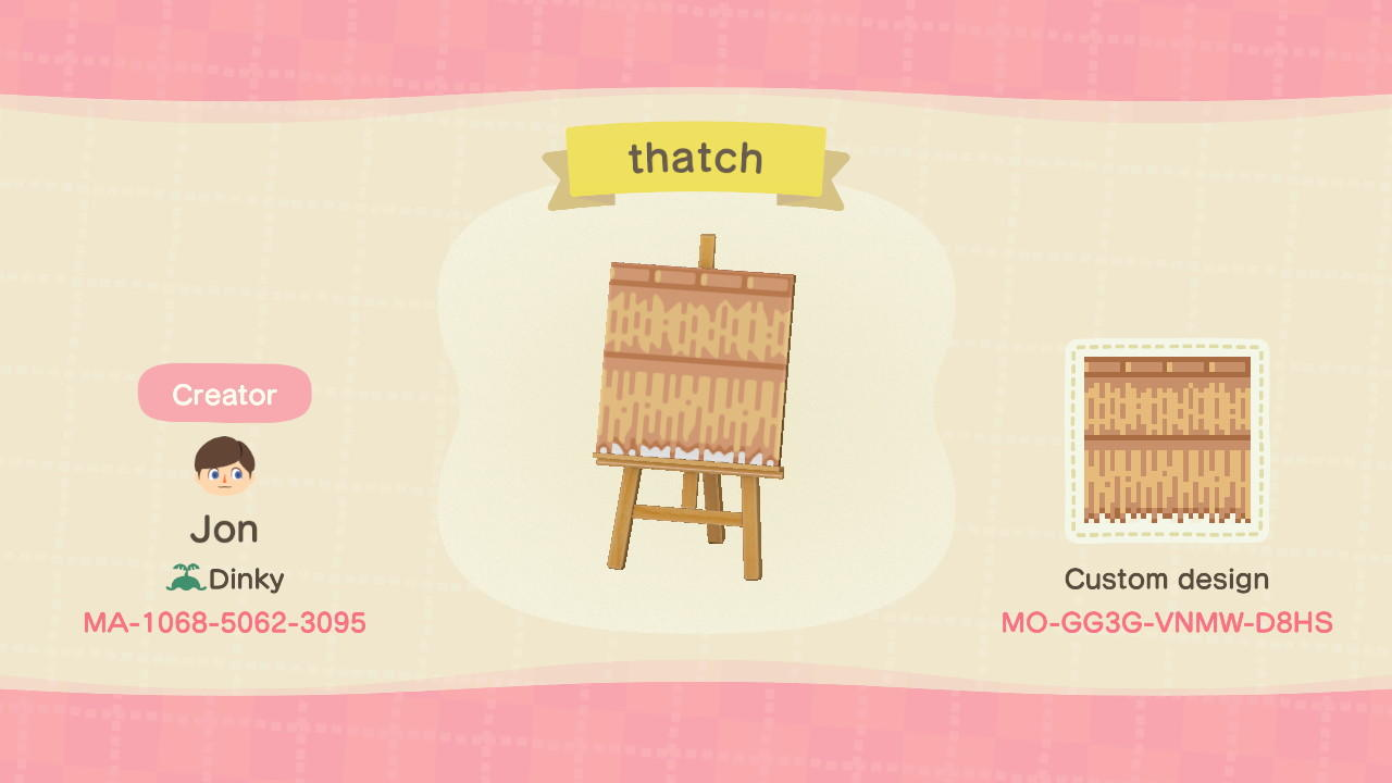 Thatched Stall Roof Animal Crossing New Horizons Custom Design Nook S Island