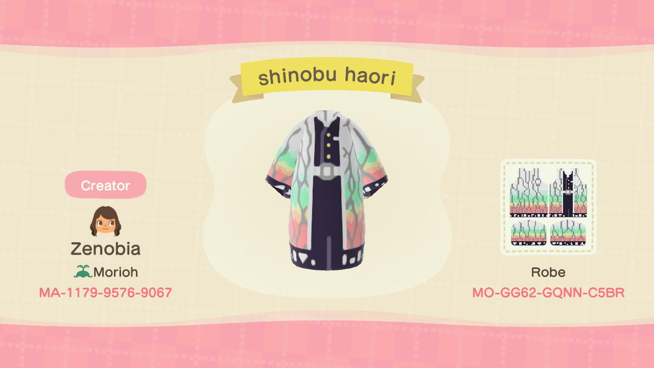 Shinobu Haori KnY - Animal Crossing: New Horizons Custom Design