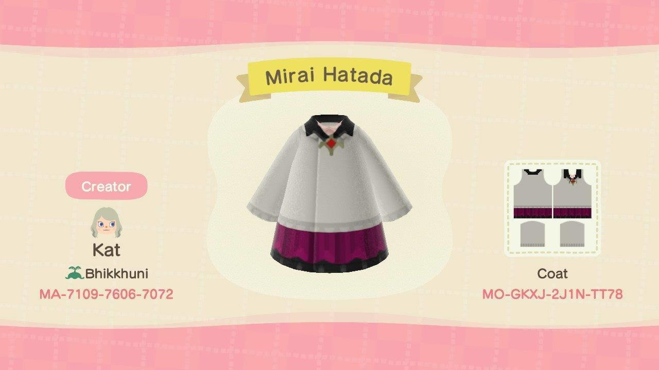 Mirai Hatada - Animal Crossing: New Horizons Custom Design