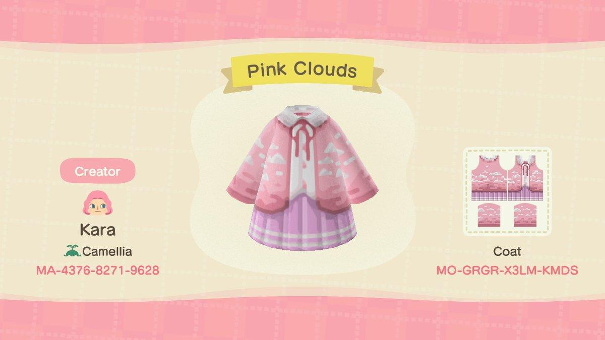 Pink Clouds - Animal Crossing: New Horizons Custom Design