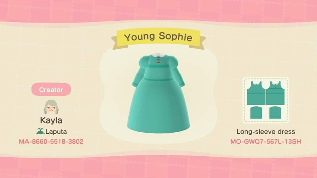 Young Sophie Dress - Animal Crossing: New Horizons Custom Design