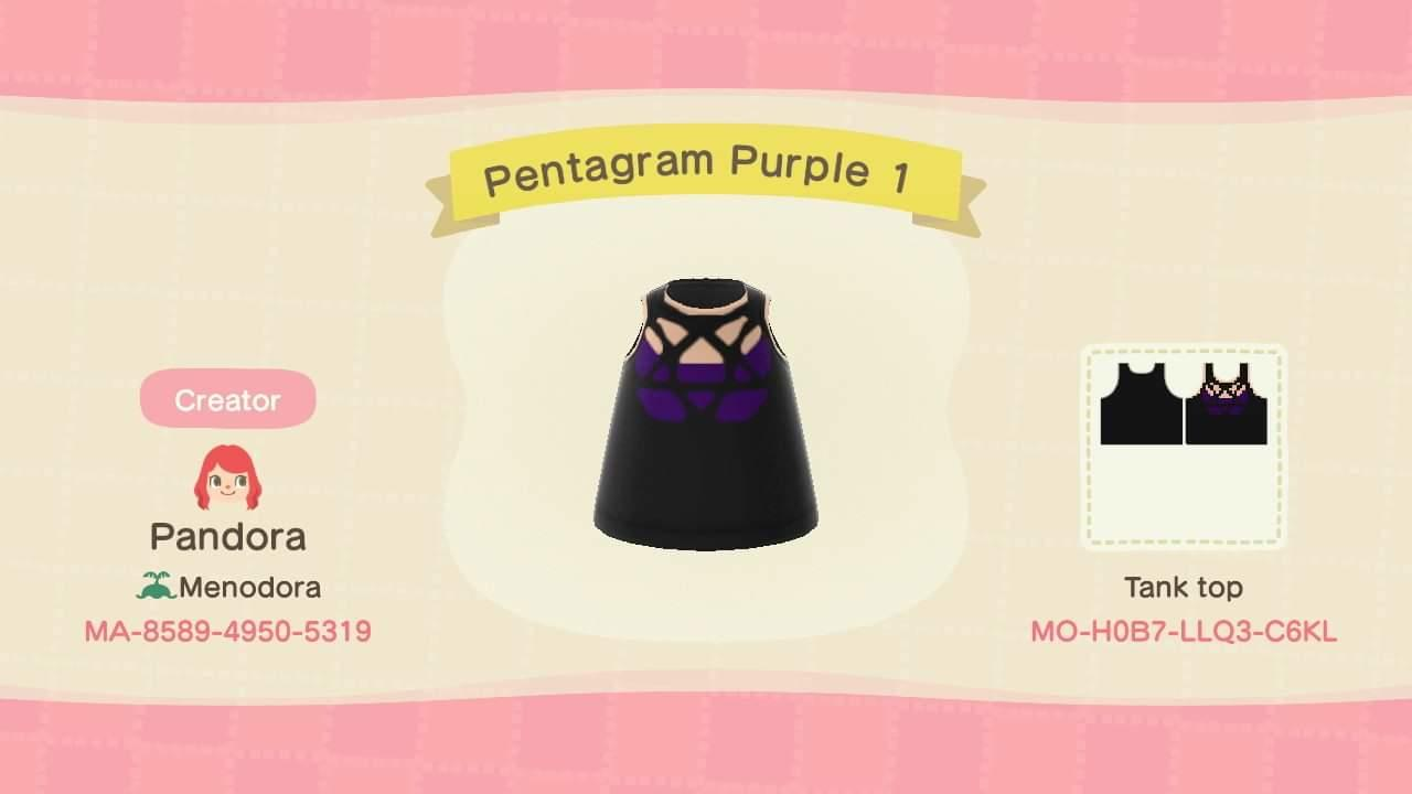 Pentagram Purple 1 - Animal Crossing: New Horizons Custom Design