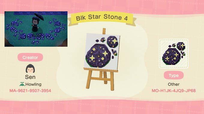 Black Star Stone - Animal Crossing: New Horizons Custom Design
