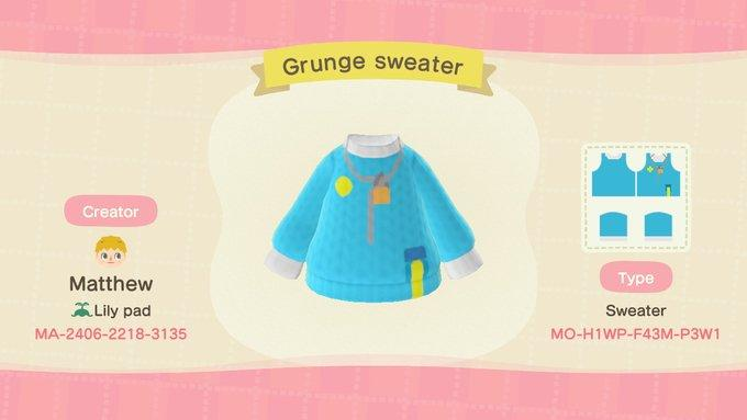 Grunge sweater - Animal Crossing: New Horizons Custom Design