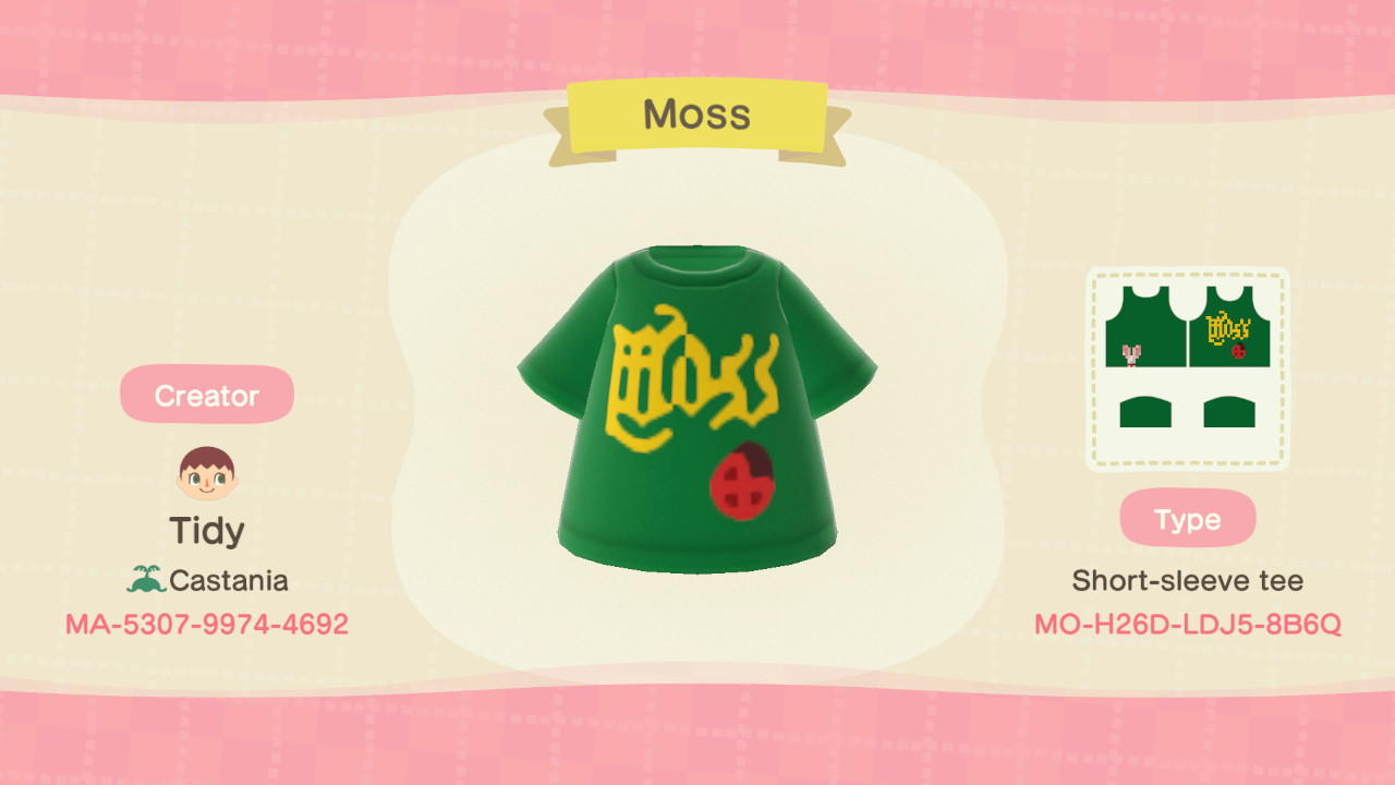 Moss - Animal Crossing: New Horizons Custom Design