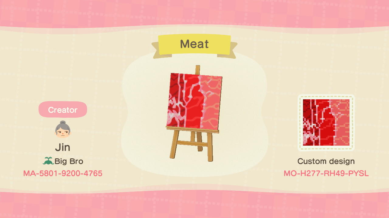 Meat - Animal Crossing: New Horizons Custom Design