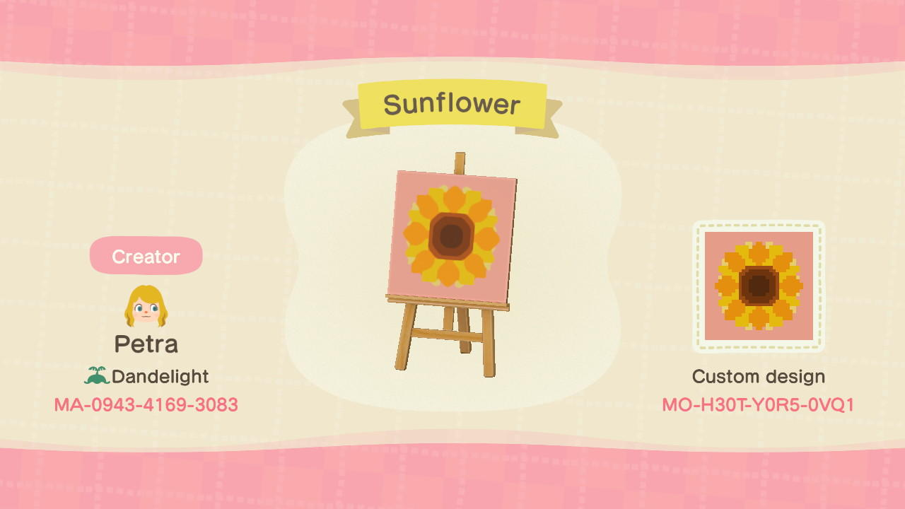 Sunflower - Animal Crossing: New Horizons Custom Design