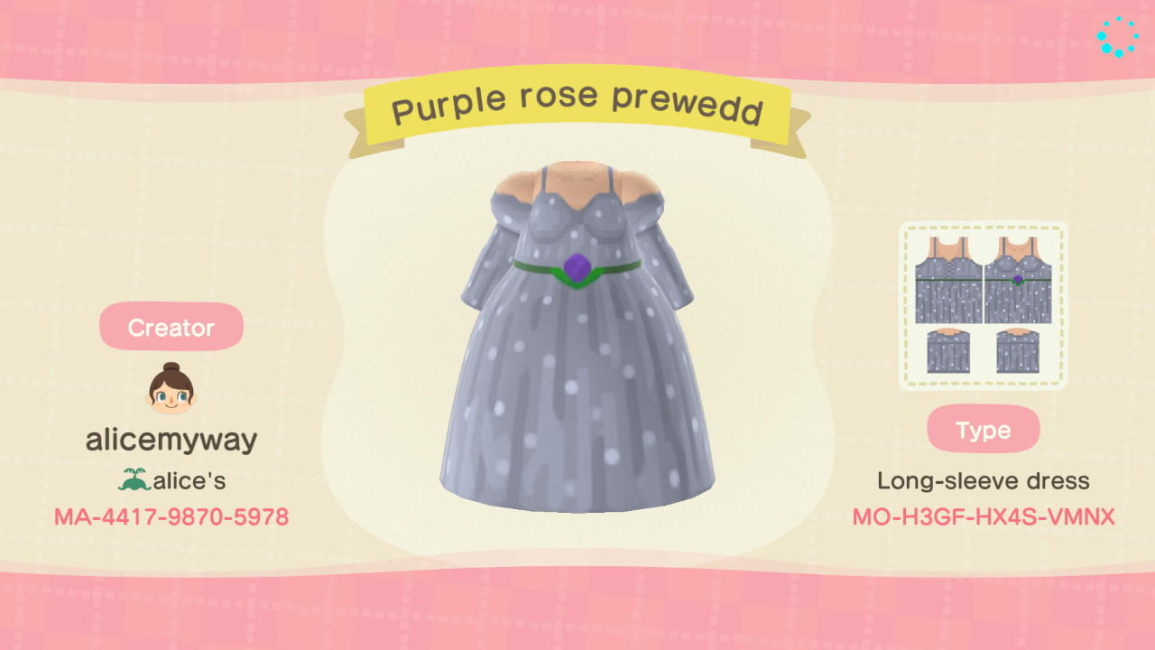 Purple Prewedding - Animal Crossing: New Horizons Custom Design
