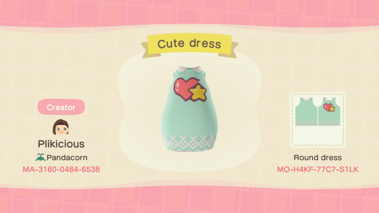 Cute Dress - Animal Crossing: New Horizons Custom Design
