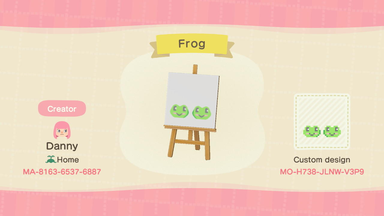 Frog - Animal Crossing: New Horizons Custom Design