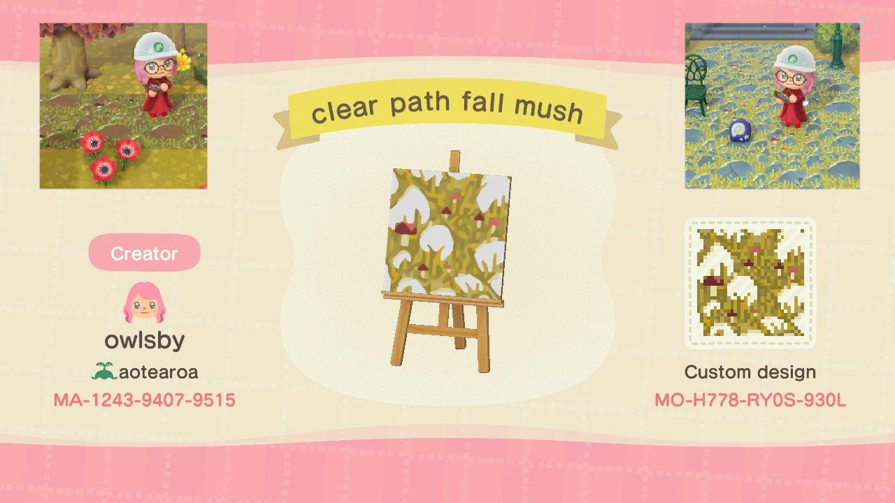 Clear Path Fall Mush - Animal Crossing: New Horizons Custom Design