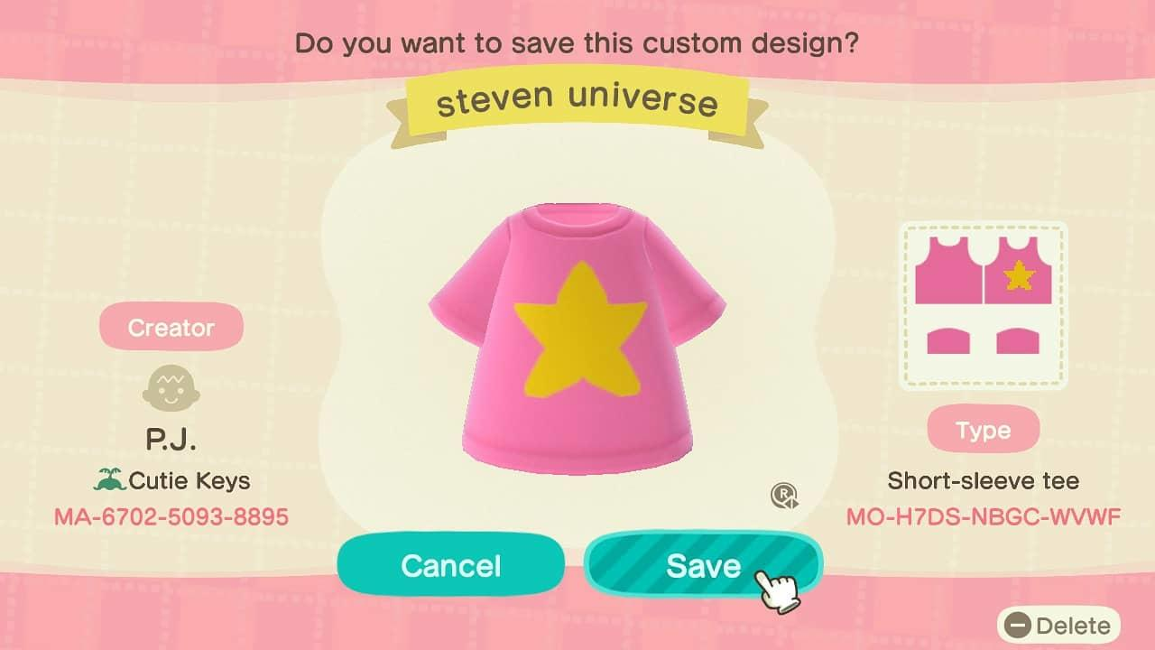 Steven Universe - Animal Crossing: New Horizons Custom Design