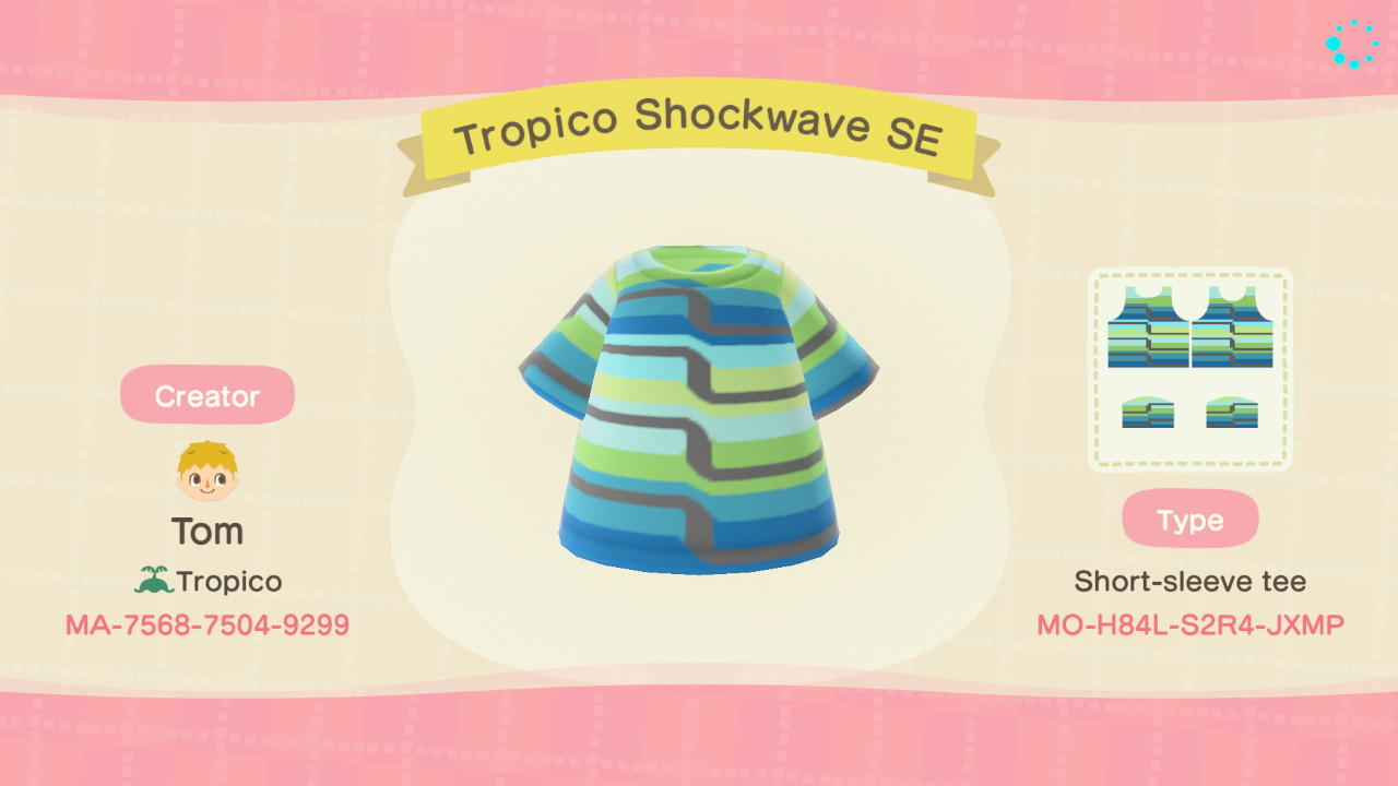 Tropico Shockwave SE - Animal Crossing: New Horizons Custom Design