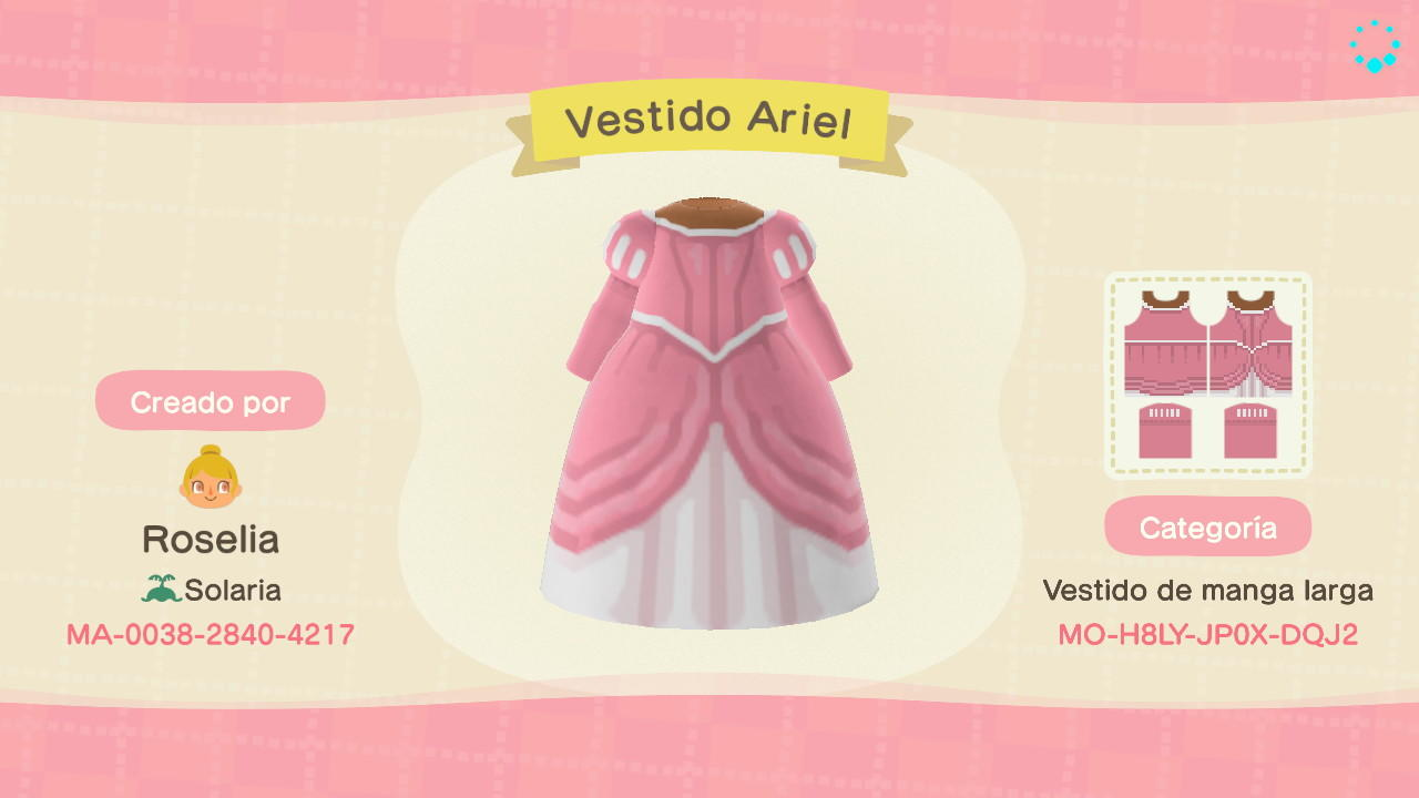 Princesa Ariel - Animal Crossing: New Horizons Custom Design