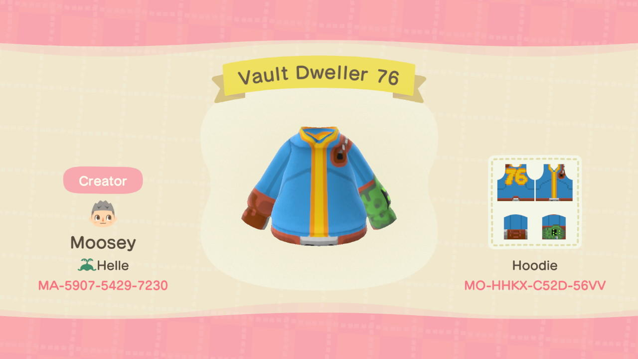 Vault Dweller 76 - Animal Crossing: New Horizons Custom Design