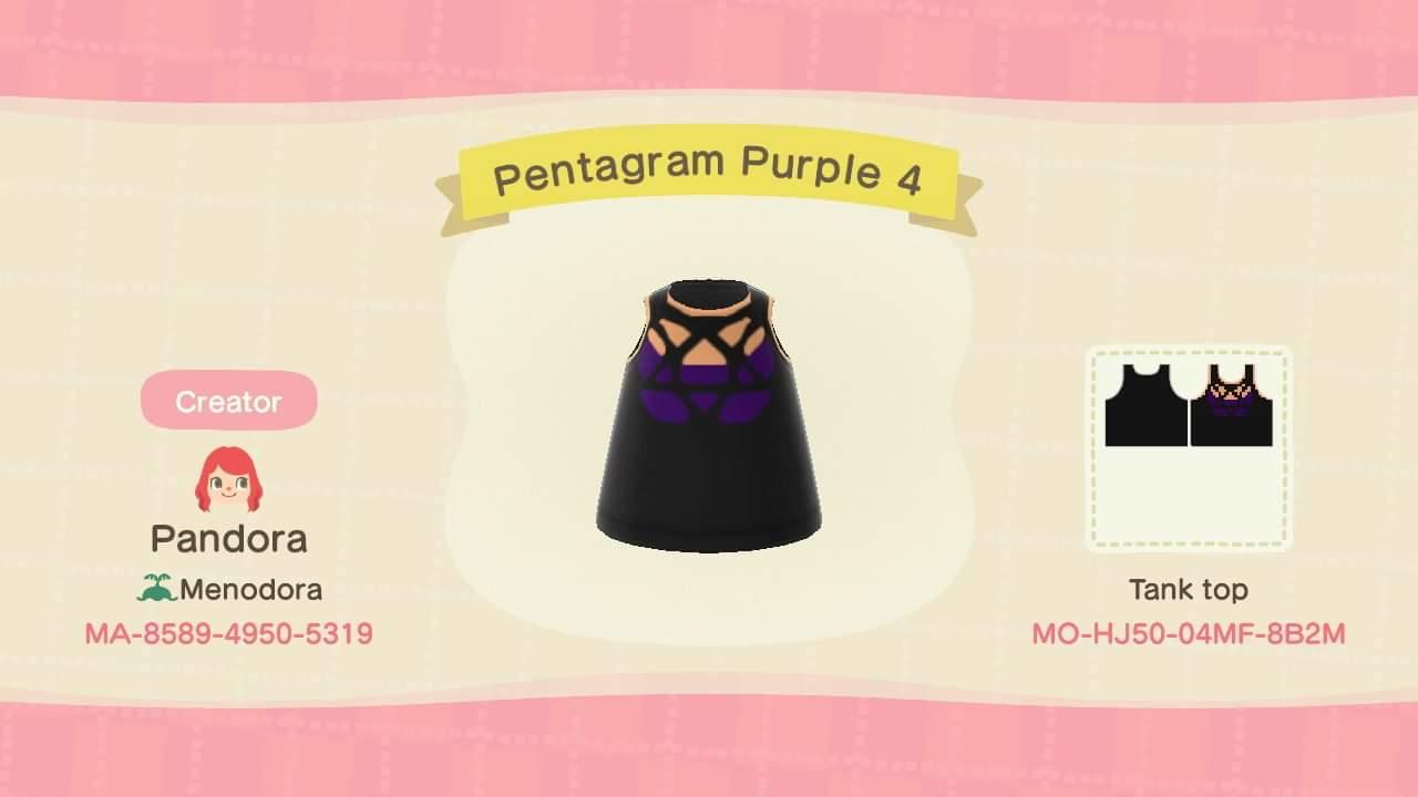 Pentagram Purple 4 - Animal Crossing: New Horizons Custom Design