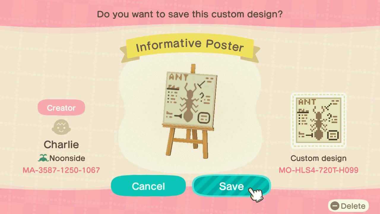 Informative Poster - Animal Crossing: New Horizons Custom Design