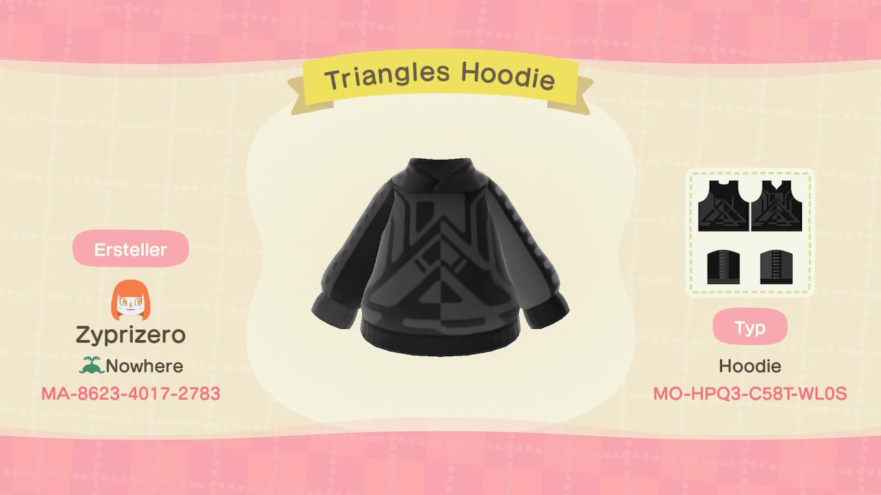 Triangles Hoodie - Animal Crossing: New Horizons Custom Design