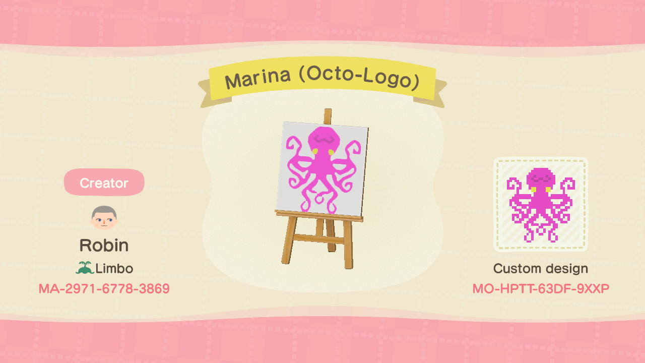 Marina (Octo-Logo) - Animal Crossing: New Horizons Custom Design