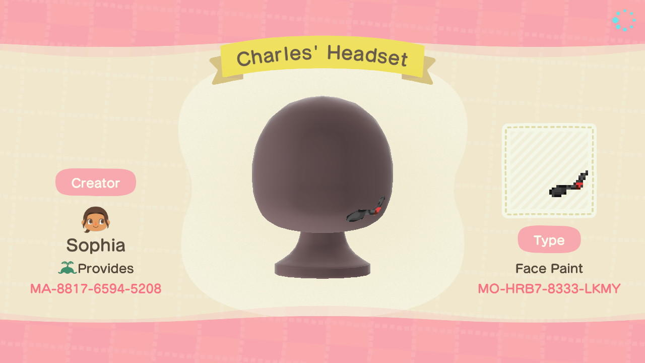 Charles' Headset - Animal Crossing: New Horizons Custom Design