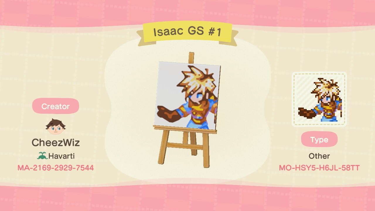 Isaac Golden Sun #1 - Animal Crossing: New Horizons Custom Design